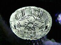 VINTAGE BOHEMIA CRYSTAL CANDY NUT BOWL STAR GEOMETRIC DESIGN FROM CZECH REPUBLIC