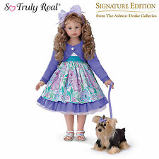 "ASHTON DRAKE - LEAH AND SADIE CHILD DOLL BY ANGELA SUTTER - 28"" H"