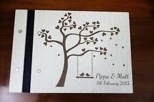 Wooden guest book customize your ideas unique decor book engraved name a5 new