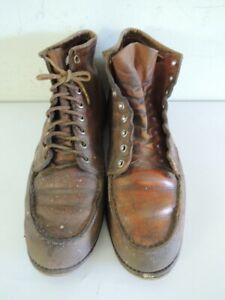 Vintage 1970s RED WING IRISH SETTER MOC TOE Leather Work Boots Size 11 B