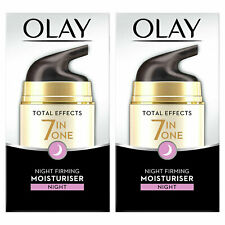 Olay Total Effects 7in1 Night Moisturiser, Night Firming, 2 Pack, 50ml