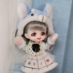 1/8 Dolls 6 Inch BJD Mini Cute Animal Dress Up  Makeup DIY Toy Christmas Gifts