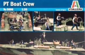 Italeri 1/35 Elco 80 Pt Boat Crew Plastic Model Kit