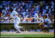 Original 35MM Color Slide New York Yankees Rickey Henderson