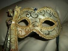 *New* Gold Brocade Venetian Masquerade Costume Mask