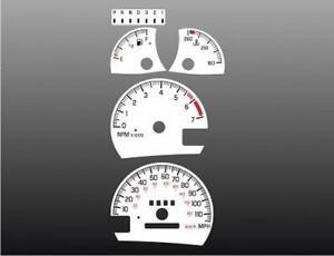 1998-2003 Pontiac Grand Prix Dash Cluster White Face Gauges 97-03