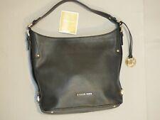 MICHAEL KORS Bedford Belted Black Pebbled Leather Shoulder Bag Hobo Tote