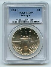 1984 S $1 Olympic Silver Commemorative Dollar PCGS MS69