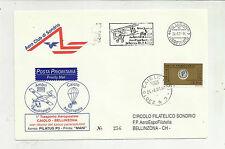 RARA BUSTA AERO CLUB SONDRIO  TRASPORTO AEROPOSTALE CAIOLO BELLINZONA 2001 256