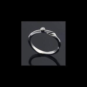 Georg Jensen 18 Ct. White Gold Diamond Ring