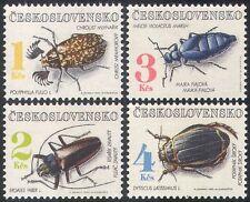 Checoslovaquia 1992 escarabajos/Insectos/Naturaleza/entorno 4 V Set (n40921)