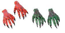 HORROR HANDS GREEN / RED MONSTER HALLOWEEN FANCY DRESS