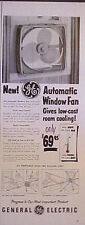 1955 General Electric Home Office GE Automatic Ventilator Window Fan Paper AD