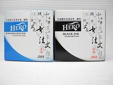 Black & Blue HERO for Fountain Pen Bottle ink 60ML(Made in China)