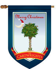 Christmas Palmetto Tree Personalized House Flag