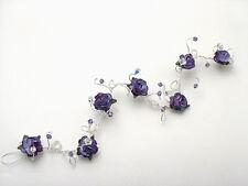 Fait main Cristal SWAROVSKI / Fleur mariée, mariage, Prom cheveux vigne (s) toute couleur