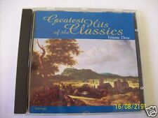 Greatest Hits Of The Classics Volume  3 (CD) Made in the United Kingdom
