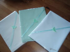 Baby bedding 3 Handmade Polycotton Flat sheets-White,Mint Green,Cream-Crib/moses