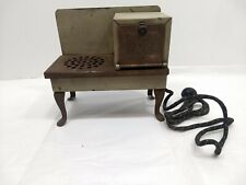 Vintage 1930s Metal Ware Electric Stove Toy - Grey - untested