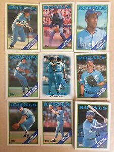 1988 Topps Kansas City Royals Complete Team Set! Bo Jackson ++