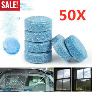 5/10X Convenient Ready-to-Use Car Effervescent Tablets Concentrated Solid Wiper