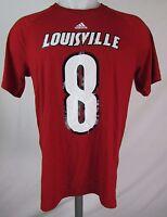 Louisville Cardinals Men M-2XL #8 Lamar Jackson Player T Shirt FLAWED NCAA