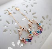 Hot New Women's Diamond earrings bright bow fashion earring drop sexy Dangle