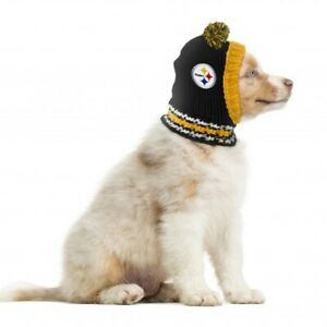 PITTSBURGH STEELERS Little Earth Production NFL Dog Knit Winter Hat Sizes S-L
