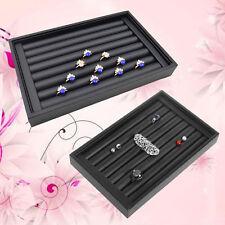 PU Leather Rings Jewelry Display Show Case Organizer Tray Box 22.5*14.5cm
