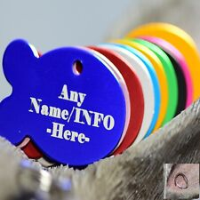 Personalised Pet Tags Engraved Dog Cat Charm Name Collar Animal ID Fish Tag tags
