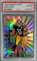 1998 Bowmans Best. Hines Ward. RC. REFRACTOR (76/400) PSA 10 (POP 5) HOC85🔥