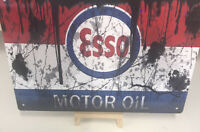 Esso Garage Sign Classic Metal Shed Workshop ,Man Cave , pub