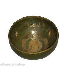 Nepal Buddha Gravur Klangschale Kopfschale Meditation Therapie ca. 250 Gramm