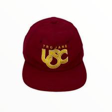 Vintage USC University of Southern California Stitched Logo Snapback Hat Cap