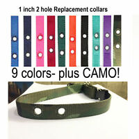 """3/4 """" Dog Fence Replacement Collar Strap  RFA 41 Camo + Colors"""