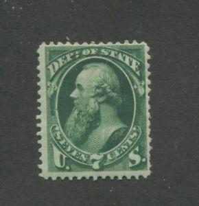 1873 United States State Dept. Official Stamp #O61 Fine Mint Hinged Disturbed OG