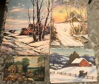 "Vintage Artographic Thompson And Francis Root Magazine Prints (4) 8 X 11"""