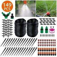 30M 149Pcs Drip Irrigation System Plant Self Garden Watering Hose Spray Kit Diy