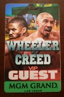 Creed 2 Production Used VIP Guest Fight Pass CREED v WHEELER Original Movie Prop