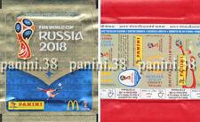 "RARE !! Pochette BELGIUM McDONALDS ""WC RUSSIA 2018"" bustina, packet, tüte PANINI"