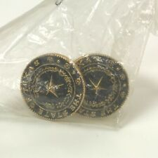 State of Texas Seal Gold Tone Antiqued Cuff Links 15/16