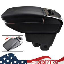 Auto Replacement Parts Arm Rest Rotatable For Honda Fit Jazz 2002-2008 Hatchback Center Centre Console Storage Box Armrest 2003 2004 2005 2006 2007 Easy To Lubricate