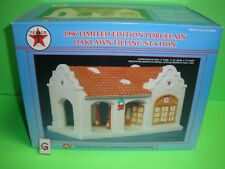 TEXACO GAS STATION RACING CHAMPIONS NOT Department 56 Snow Village, Porcelain G