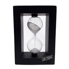 Vintage Sand Hourglass Timer Square Wood Tabletop Decor Gift For Office/Kitchen