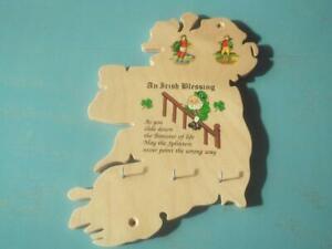 Key Holder Ireland Map Irish Blessing 2