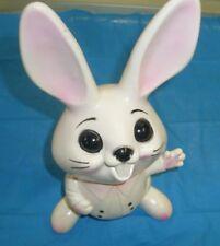 Vintage Plastic Bank Easter Bunny Rabbit w/ Cotton Tail/ 1950'S Knickerbocker ?