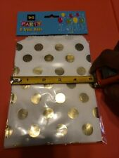 8ct Polkadot Gold Treat Bags