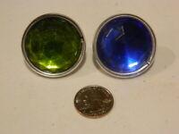 Vintage Pair Large Reflector Glass HARLEY KNUCKLEHEAD FLATHEAD PANHEAD HOT ROD
