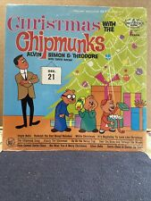 New listing Christmas with The Chipmunks- LP Mistletoe Stereo Record MLP-1216(Shrink) MINT