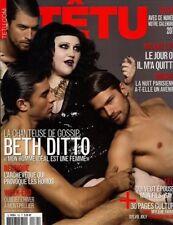 Tetu Magazine #162 1/2011 gay men BETH DITTO 2011 CALENDAR